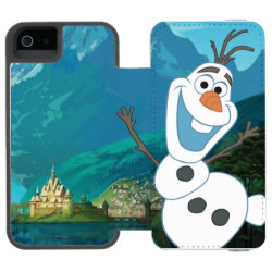 Incipio Watson™ iPhone 5/5s Wallet Case with Frozen's Olaf: Always Up for Adventure design