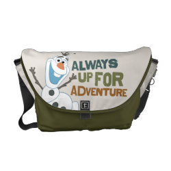Rickshaw Medium Zero Messenger Bag with Frozen's Olaf: Always Up for Adventure design