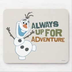 Mousepad with Frozen's Olaf: Always Up for Adventure design