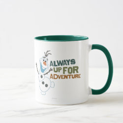 Combo Mug with Frozen's Olaf: Always Up for Adventure design