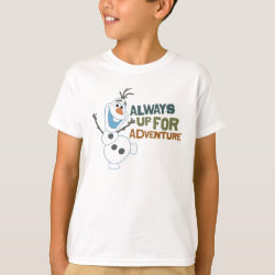 Kids' Hanes TAGLESS® T-Shirt with Frozen's Olaf: Always Up for Adventure design