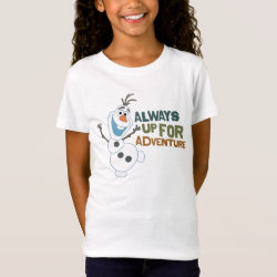 Girls' Fine Jersey T-Shirt with Frozen's Olaf: Always Up for Adventure design