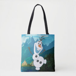 All-Over-Print Tote Bag, Medium with Frozen's Olaf: Always Up for Adventure design