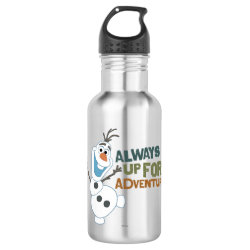 Water Bottle (24 oz) with Frozen's Olaf: Always Up for Adventure design