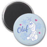 Olaf and Snowflakes 2 Inch Round Magnet