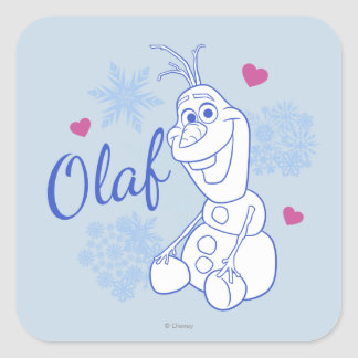 Olaf and Snowflakes Square Sticker