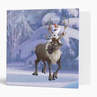 Olaf and Sven Vinyl Binder