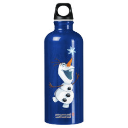 SIGG Traveller Water Bottle (0.6L) with Olaf reaching for a Snowflake design