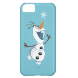 Case-Mate Barely There iPhone 5C Case with Olaf reaching for a Snowflake design