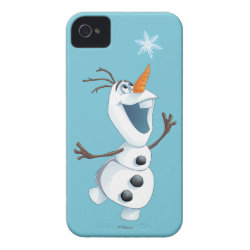 Case-Mate iPhone 4 Barely There Universal Case with Olaf reaching for a Snowflake design