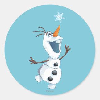 Olaf   Blizzard Buddy Classic Round Sticker