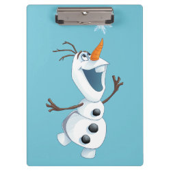 Clipboard with Olaf reaching for a Snowflake design
