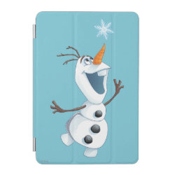 iPad mini Cover with Olaf reaching for a Snowflake design