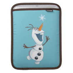 iPad Sleeve with Olaf reaching for a Snowflake design