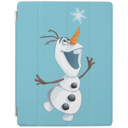 iPad 2/3/4 Cover with Olaf reaching for a Snowflake design