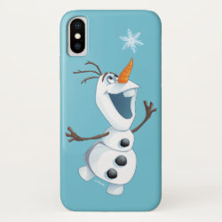 Case-Mate Barely There iPhone X Case with Olaf reaching for a Snowflake design