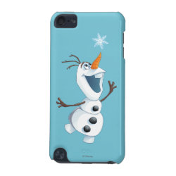 Case-Mate Barely There 5th Generation iPod Touch Case with Olaf reaching for a Snowflake design