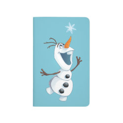 Pocket Journal with Olaf reaching for a Snowflake design