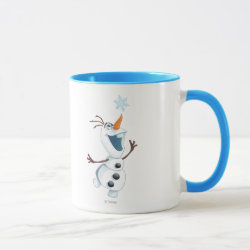 Combo Mug with Olaf reaching for a Snowflake design