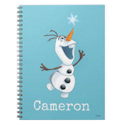 Photo Notebook (6.5' x 8.75', 80 Pages B&W) with Olaf reaching for a Snowflake design