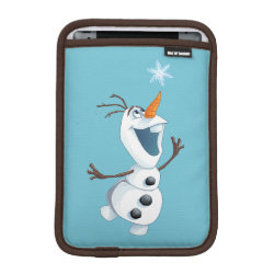 iPad Mini Sleeve with Olaf reaching for a Snowflake design