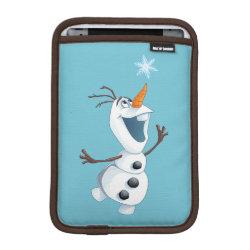 iPad Mini Sleeve with Olaf reaching for a Snowflake design