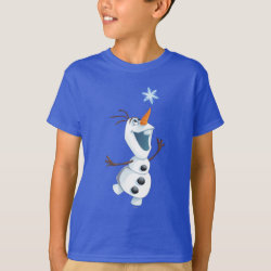 Kids' Hanes TAGLESS® T-Shirt with Olaf reaching for a Snowflake design