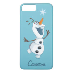Case-Mate Barely There iPhone 7 Plus Case with Olaf reaching for a Snowflake design