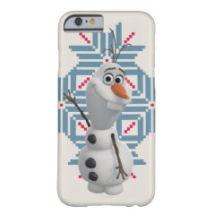 Olaf -  Blue Snowflake iPhone 6 Case