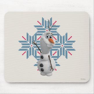 Olaf -  Blue Snowflake Mouse Pad