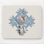 Olaf -  Blue Snowflake Mousepads