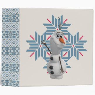Olaf -  Blue Snowflake Vinyl Binder