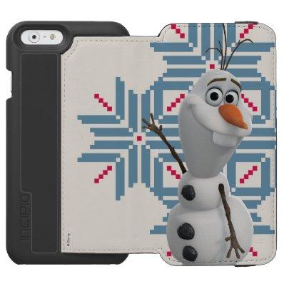 Olaf -  Blue Snowflake Incipio Watson™ iPhone 6 Wallet Case