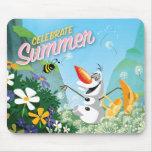 Olaf, celebra verano alfombrillas de ratones