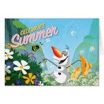 Olaf, celebra verano felicitacion