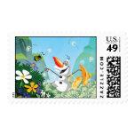 Olaf, celebra verano timbre postal