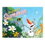 Olaf, Celebrate Summer Postcard