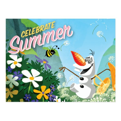 Olaf, Celebrate Summer Post Card