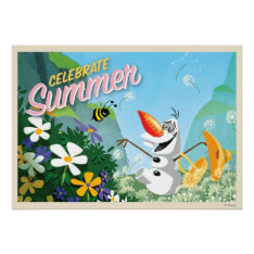 Olaf, Celebrate Summer Posters at Zazzle