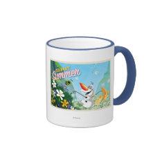 Olaf, Celebrate Summer Ringer Coffee Mug at Zazzle