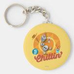 Olaf Chillin' Basic Round Button Keychain
