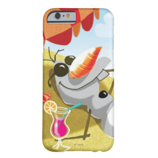 Olaf Chillin en la sol Funda Para iPhone 6 Barely There