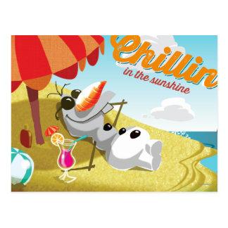 Olaf Chillin en la sol Tarjetas Postales