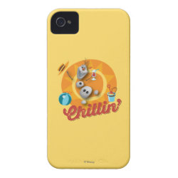 Case-Mate iPhone 4 Barely There Universal Case with Frozen's Olaf the Snowman Chillin' design