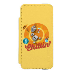 Incipio Watson™ iPhone 5/5s Wallet Case with Frozen's Olaf the Snowman Chillin' design