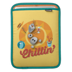 iPad Sleeve with Frozen's Olaf the Snowman Chillin' design