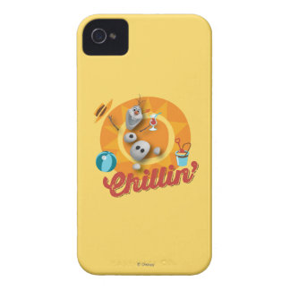 Olaf | Chillin' in Orange Circle iPhone 4 Cover