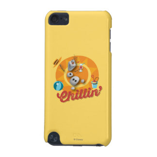 Olaf | Chillin' in Orange Circle iPod Touch 5G Case