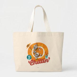 Olaf | Chillin' in Orange Circle Large Tote Bag