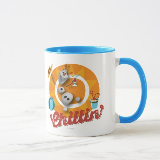 Olaf | Chillin' in Orange Circle Mug